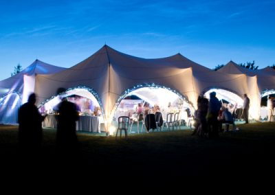 Trapeze Tent at Night