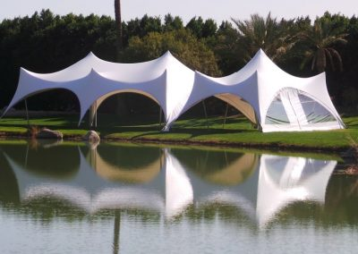 Trapeze Tent open sides